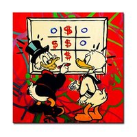 One Panel ads arts - Framed window Alec monopoly Graffiti mr brainwashart Amazing Quality genuine Hand Painted Graffiti Pop Art Oil Painting Canvas Multi Size aD