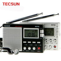 Wholesale Original TECSUN R FM MW SW Dual Conversion World Band Radio Receiver Built In Speaker DSP Radio Colock Speaker Stereo Radio