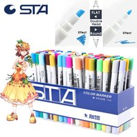 Wholesale 48 color Mark pen Art Supplies waterborne stud hand painted cartoon manga Design Drawing Office School copic sketch markers