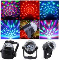 Wholesale Sound activated w Mini RGB LED Crystal Magic Ball Stage Effect Lighting laser Lamp Party Disco Club DJ Bar Light