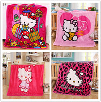 Wholesale 18 type Cartoon Lovely Plush Flannel Blanket Children s Blanket Small Size Nap Sofa Bed Air Travel Cover Kid s Child x100cm DHL free