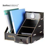 Wholesale Creative wood storage rack file rack table table drawer type