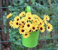 balcony flower pots - Metal Iron Hanging Flower Pots Balcony Garden Plant Planter Home Decor Charming