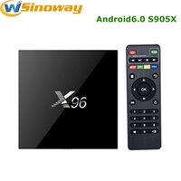 Wholesale Original X96 Android TV box Amlogic S905X Quad Core KODI K Android tv box Marshmallow RAM GB G ROM GB GB Built in WIFI Wifi HDMI