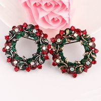 Wholesale 2016 new Christmas Wreath Brooch boutique SUIT PIN FEMALE creative personality