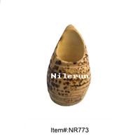 Wholesale creative multi function bamboo root flower vase pen holder tea accessories holder