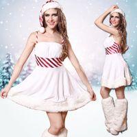 Wholesale Christmas Costume New White Princess Cosplay Hot Costume Woman Sexy Dress M L Dress BC501