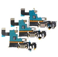 Wholesale New Charging Charger Port USB Dock Connector Flex Cable For iPhone quot G with Headphone Jack Mic Flex Cable Ribbon