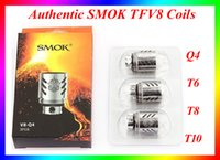 baby coil - Authentic SMOK TFV8 Coil Head T10 T8 T6 Q4 Replacement Coils For TFV8 Tank VS Kanger coil Smok TFV8 Baby Coils