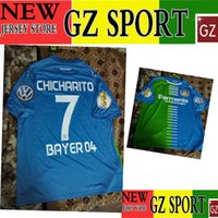 Wholesale 16 Leverkusen jersey CHICHARITO Leverkusen DFB POKAL jersey customize patches