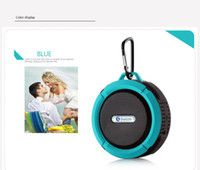 Wholesale sell pc C6 Speaker Bluetooth Speaker Wireless Potable Audio Player Waterproof Speaker Hook And Suction Cup Stereo Music Player