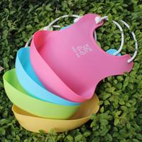 Wholesale Free DHL Color New Baby Infants Kids Cute Bibs Lunch Bibs Newborn Children Waterproof Towel Washable Feeding Silicone Burp T B