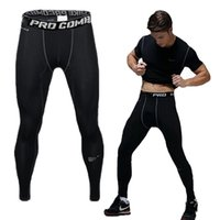 Wholesale PRO Quick drying mens pants tight sports fitness training outdoor brand compression mens joggers sweatpants gym pants trousers