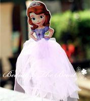 Venta al por mayor-Princesa Sofía la primera Pastel Cake Toppers Cupcake Accesorios Cake Table Party Supplies Decoración de las fiestas de cumpleaños Kids Baby Shower
