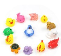 baby wash toy - Animal Bath Toys Bath Baby Swiming Gifts Rubber Bathing Washing Sets Children Education Toys Children s Swimming Gear HHA1054