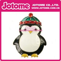 Wholesale 100PCS Hot best selling product Cute Enamel Penguin with Christmas Hat Brooch Pin for Christmas
