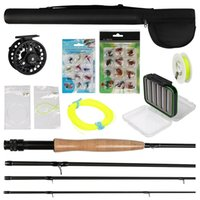 fly reel and rod - 3 Fly Fishing Rod and Reel Combo with Flies Fly Fishing Line Set Fly Tying Materials