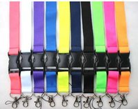 Wholesale fukuan Detachable ID Badge Holder Key chain lanyard Assorted Colors Brand New Orange Solid color mixed colors