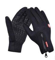 Wholesale Outdoor riding gloves full finger bike warm waterproof touch screen gloves in Winter Fleece Ski Gloves