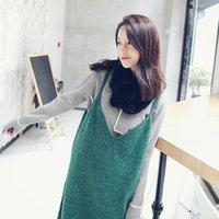 angola sweater - Angola goat hair harness dresses women take outer wear sweater skirt Korean version skirt dress women
