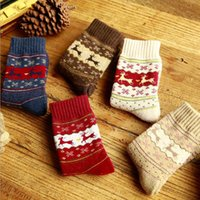angora clothing - Socks Women Elk Snowflake Printed Socks Winter Thicken Warm Terry Angora Socks Christmas Gifts Women s Clothing