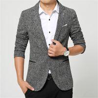 beige blazer jacket - Suits men high quality Mens casual Suits Blazers leisure Jacket fashion Blazer Coat Button suit Business men Formal suit jacket