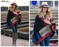 Wholesale High Quality Original Edition Hot Sell Women s Cape and Poncho Plaid Blanket Cloak brand B scarf Cape Outwear Coat Shawl
