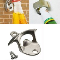 best soda - New Hot Sale Convenient Stainless Steel Wall Mount Bar Beer Soda Glass Cap Bottle Opener Kitchen Tool Best Quality