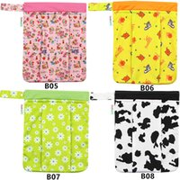 Wholesale Asenappy leakproof washable wet bags dry bags double zip pockets cloth diaper covers bags DPB2