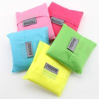 Wholesale DHL Free Baggu Tote Bags New Candy Colors Reusable Shopping Bag Portable Folding Pouch Lunch Bag Purse Handbag Enviorment Safe Go Green