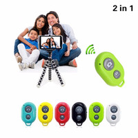 Wholesale Wireless SELFIE Bluetooth Remote Control Self timer Shutter Snapshot Camera Control Remote Shutter For iPhone Samsung Sony Camera
