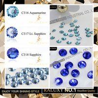 aquamarine dress - Grade AAAAA Best Quality Aquamarine Light Sapphire Hot Fix Rhinestone Super Bright Strass Hotfix Iron On Stones For Bridal Dress