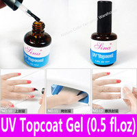 Wholesale piece UV Top Coat Gel Topcoat for UV Curing Acrylic Nail Art Glossy Coating with Any UV Light Lamp Retail oz ml