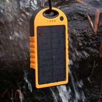 Wholesale Dual USB mAh Waterproof Solar Power Bank Portable Charger Outdoor Travel Enternal Battery Powerbank for iPhone Android phone