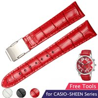 Bracelet en fer forgé en cuir véritable de 18 mm pour bracelet CASIO 5010L 5011L 5012 5020L Bracelets pour femmes + outils