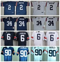 auburn college football - Auburn Tigers College Football Jerseys New Jeremy Johnson Bo Jackson Jersey Cameron Newton Blue White Stitched Fairley