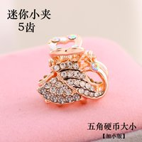 Wholesale A shipping South Korea top clamp large hairpin spring Edge Diamond crystal diamond jewelry hairpin head tail cross clip
