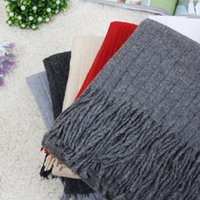 Wholesale The new trend of Korean winter fringed cashmere scarf Wool shawl and crushed warm thickened female