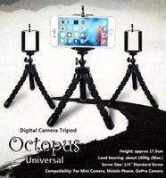 Universal Octopus Sponge Flexible MINI Trípode Digital Camera Holder Soporte de montaje para Canon Soporte de montaje para Iphone 7 6S 5 Plus Gorrila Trípodes