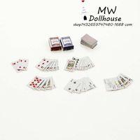 Wholesale 52 dollhouse miniature dollhouse accessories play scene model Poker CARDS mini