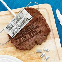 Wholesale Personality Steak Meat Barbecue BBQ Meat Branding Iron with Changeable Letters BBQ Tool Set Changeable Letters Tool Steak Outdoor