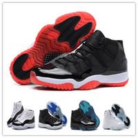 Compra Zapatos al por mayor-Venta al por mayor Retro (11) XI Zapatos de baloncesto criados Leyenda Azul Concord Espacio Jam Men Deportes Zapatos Baloncesto Zapatillas Mujeres Hombres Atletismo Con Caja