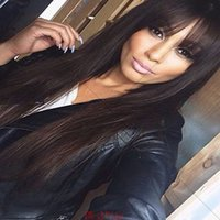 beautiful full lace wig - 100 human virgin hair full lace wig inches long hair lace front wig with beautiful bangs for black woman swiss lace cap