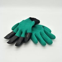 Wholesale new style Garden Genie Gloves with Claws Quick easy way to Gardening Builders Digging Planting Rubber Polyester