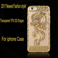 Wholesale For iPhone7 Plus plus Case TPU Soft Phone Cover For iphone plus D Dragon Transparent Clear Case New