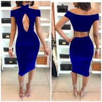 Wholesale 2017 hot sales women clothing Sexy deep V backless package dress Lady elegant knee length dress