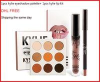 Wholesale DHL FREE Hot Makeup kylie jenner matte lipstick kylie eyeshadow palette kylie lip kit brand eyeshadow palette