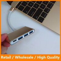Wholesale Aluminum Alloy Type C HUB USB to Port USB Type C Adapter G for Macbook Huawei Xiaomi Smart Phone