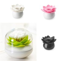 Wholesale Lotus Shape Swab Box Toothpick Holder Storage Box Case Dispenser Home Decoration