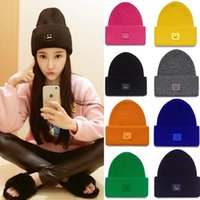 Wholesale Smile hat winter warm wool cap male and female